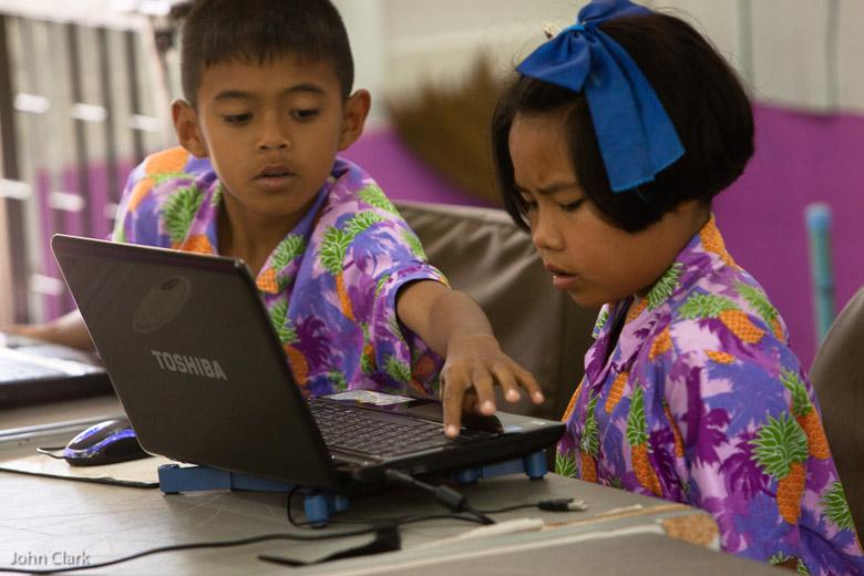 Computer skills at Huay Sai Ngam